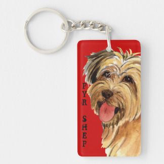 Pyrenean Shepherd Color Block Keychain