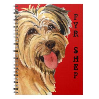 Pyrenean Shepherd Color Block Notebook