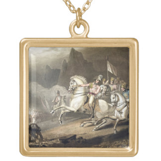 Pyrenees, 28th July 1813, from 'The Victories of t Square Pendant Necklace