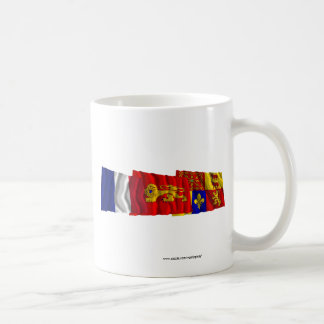 Pyrénées-Atlantiques, Aquitaine & France flags Coffee Mug
