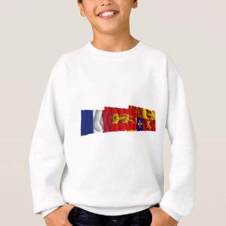 Pyrénées-Atlantiques, Aquitaine & France flags Sweatshirt