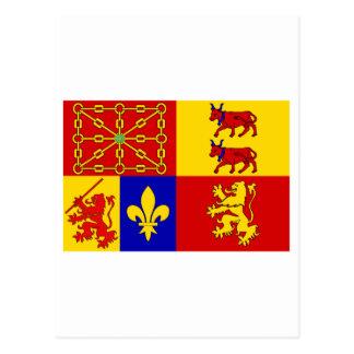 Pyrénées-Atlantiques flag Postcard
