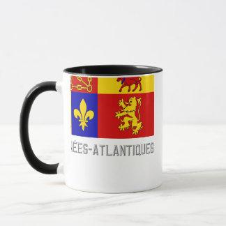 Pyrénées-Atlantiques flag with name Mug