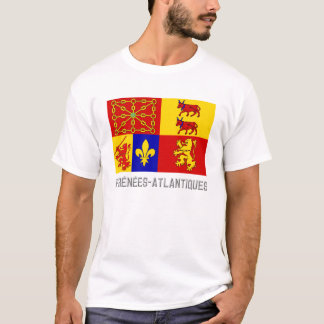 Pyrénées-Atlantiques flag with name T-Shirt