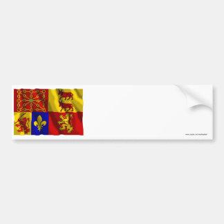 Pyrénées-Atlantiques waving flag Bumper Sticker