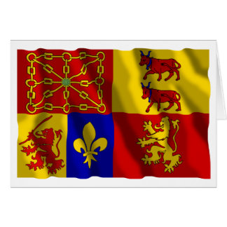 Pyrénées-Atlantiques waving flag Card