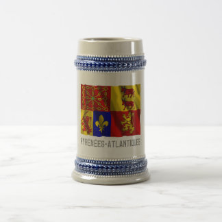 Pyrénées-Atlantiques waving flag with name Beer Stein