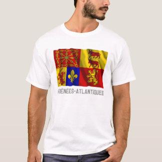 Pyrénées-Atlantiques waving flag with name T-Shirt