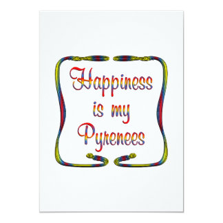 Pyrenees Happiness Card