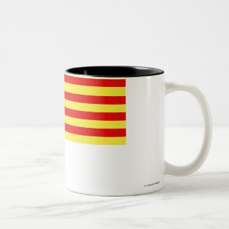 Pyrénées-Orientales flag Two-Tone Coffee Mug