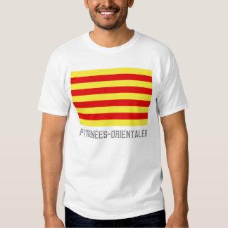 Pyrénées-Orientales flag with name Tee Shirt