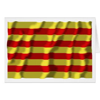 Pyrénées-Orientales waving flag Card
