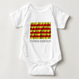 Pyrénées-Orientales waving flag with name T-shirt