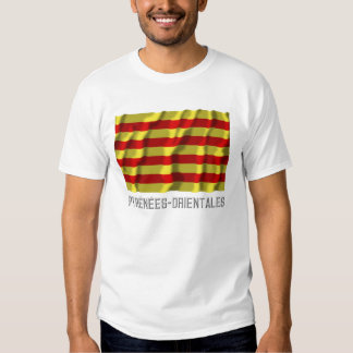 Pyrénées-Orientales waving flag with name T Shirt