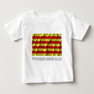 Pyrénées-Orientales waving flag with name Tee Shirt