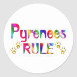 Pyrenees Rule Classic Round Sticker