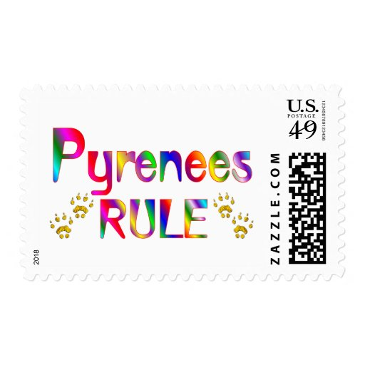 Pyrenees Rule Postage Stamps