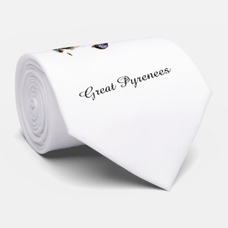 Pyrenees Stare Tie with text