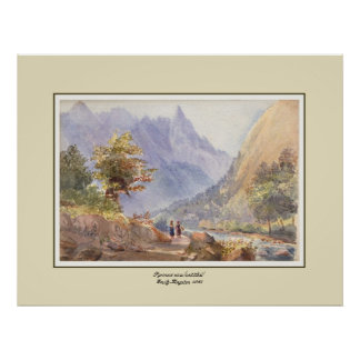 Pyrenees view(untitled) poster