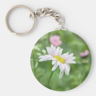 Pyrethrum Daisies -  Tanacetum coccineum Keychain