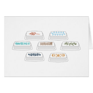 Pyrex Butter Dishes Stationery Note Card