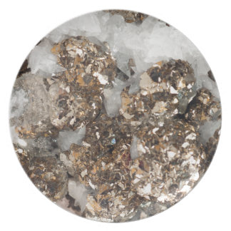 Pyrite and Quartz Plate
