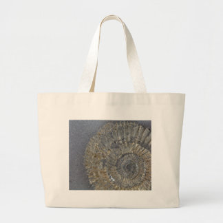 Pyritized Ammonite Large Tote Bag