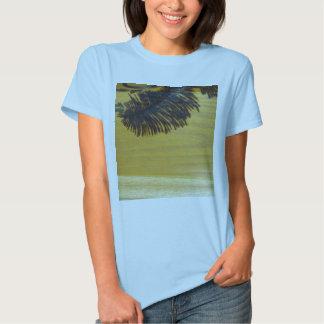 Pyrographic Palm Tree Frond T Shirt
