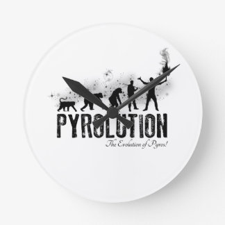 Pyrolution - The Evolution of Pyros Round Wall Clock