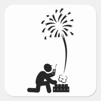 Pyrotechnician Square Sticker