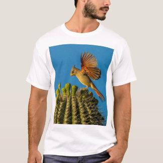 Pyrrhuloxia on Saguaro, Arizona T-Shirt