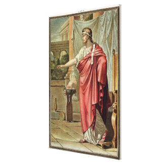 Pyrrhus, costume for 'Andromache' by Jean Racine, Canvas Print