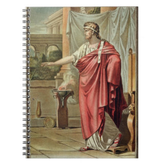 Pyrrhus, costume for 'Andromache' by Jean Racine, Notebook