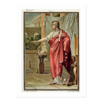 Pyrrhus, costume for 'Andromache' by Jean Racine, Post Cards