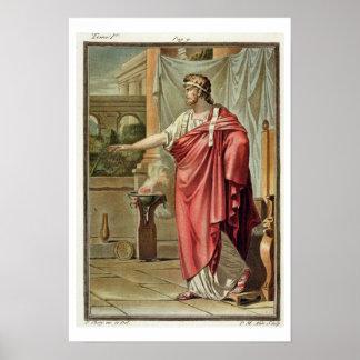 Pyrrhus, costume for 'Andromache' by Jean Racine, Poster