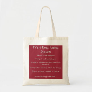 PY's 5 Fang Rating System Tote Bag