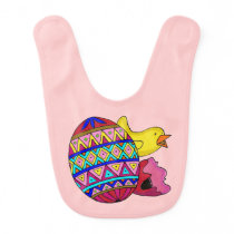 Pysanka and Little Chick Ukrainian Art Baby Bib