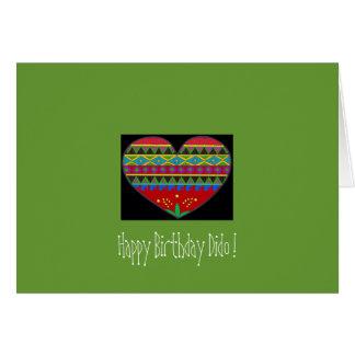 Pysanka Heart-Art Happy Birthday Dido Card
