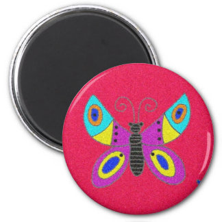 Pysanka Symbol: Butterfly Refrigerator Magnet