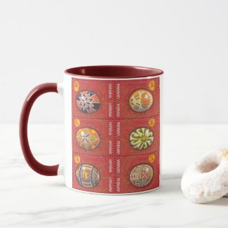 Pysanka Ukrainian Easter Egg3 Two Tone Mug
