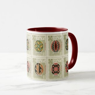 Pysanka Ukrainian Easter Eggs11 Two Tone Mug