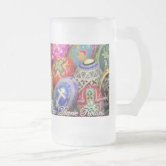 pysanky 150z frosted mug - Customized