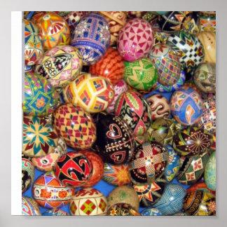 Pysanky - huevos de Pascua del ucraniano Póster