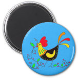 Pysanky Symbols Series: Rooster 2 Inch Round Magnet