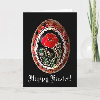 Pysanky Ukrainian Easter Egg Card card