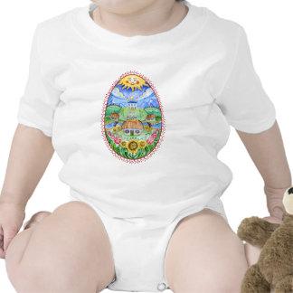 Pysanky Ukrainian Easter eggs Baby Bodysuit