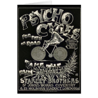 Pyscho Cycles - Vintage Bike Advertisement Card