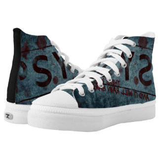 pyscho grundgy sneakers printed shoes