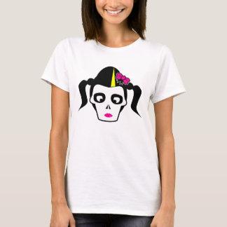 Pyschobilly Girl Skull T-Shirt