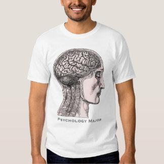 Pyschology Major - Antique Print of Human Brain Tee Shirt
